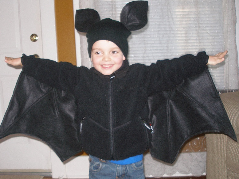 Handmade halloween bat tutorial the lazy homesteader when the 31st rolls around h will wear his costume with black pants too he loves his costume just what he wanted what are you doing for halloween do solutioingenieria Choice Image