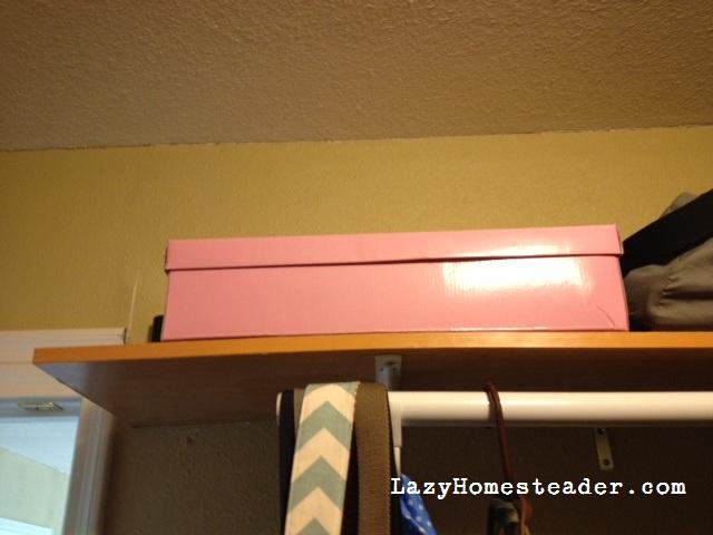 Box in closet
